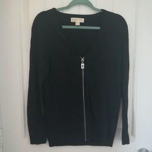 🛍️MK silver zipper, zip up sweater cardigan